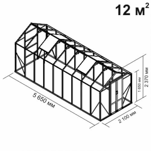 Алюминиевые теплицы Botanik - Линейка Mini